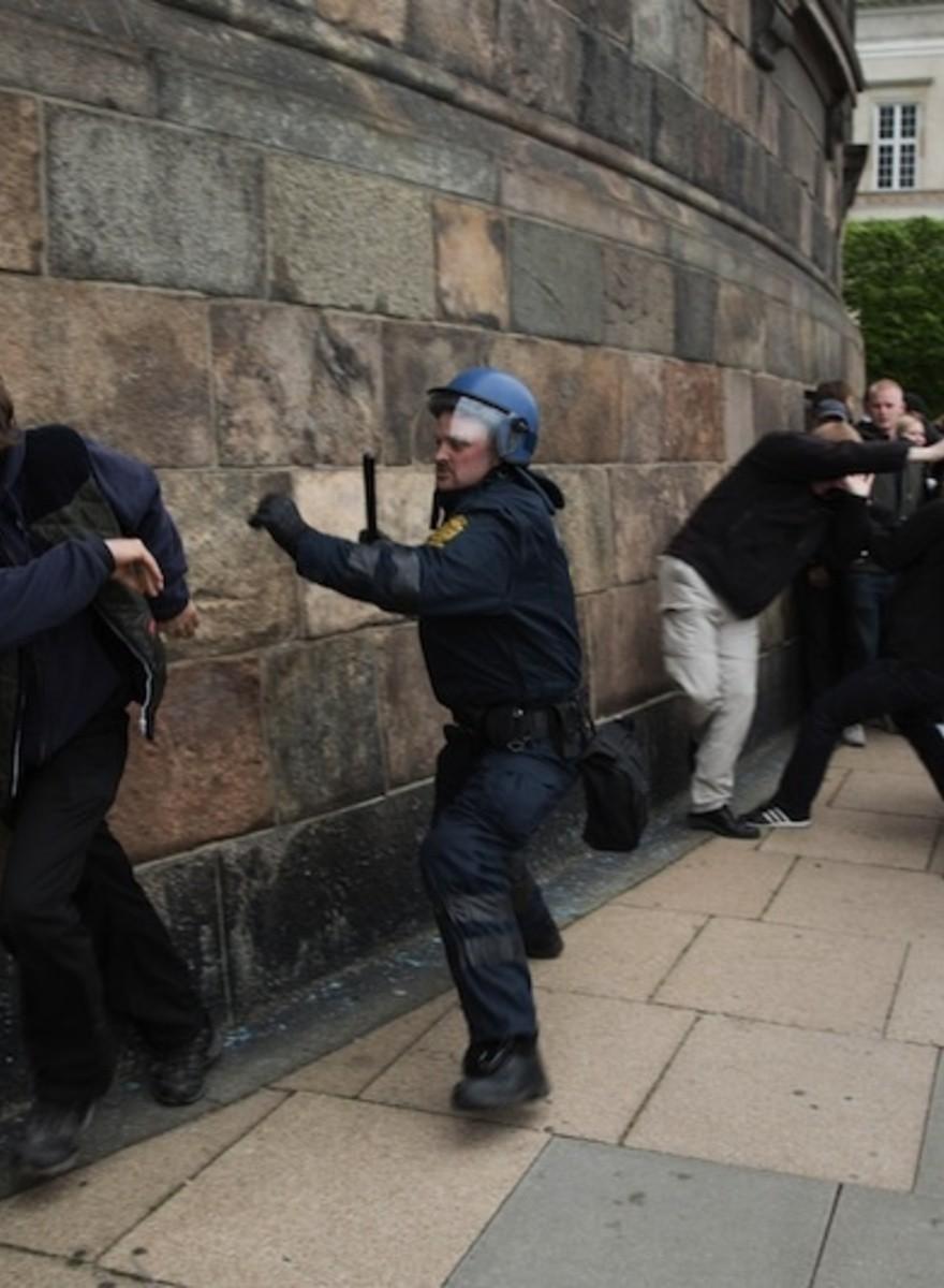 Angry Anti-Fascists Beat Up Nazis in Copenhagen Last Weekend