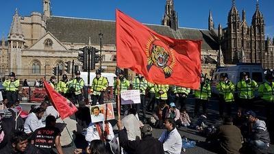 British Tamils protest against Sri Lankas defence attaché