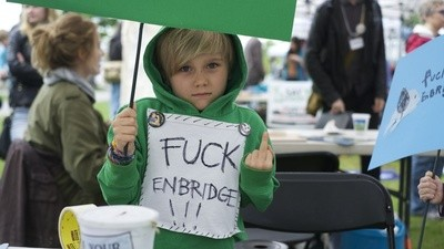 'No Enbridge' Might Have Been The Last Peaceful Northern Gateway Protest