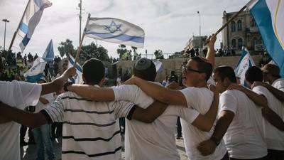 En imágenes: enfrentamientos en el desfile del Día de Jerusalén