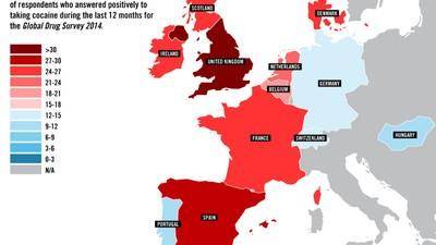 Así se toman las drogas en Europa en 2014
