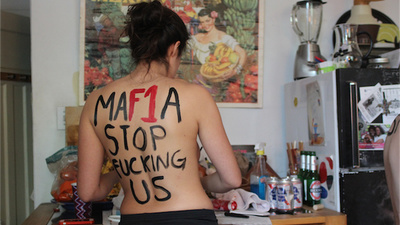 We Hung Out with Femen While They Prepped for Their Latest Topless Protest