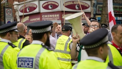 English Fascists Protested Against Egypt's Muslim Brotherhood