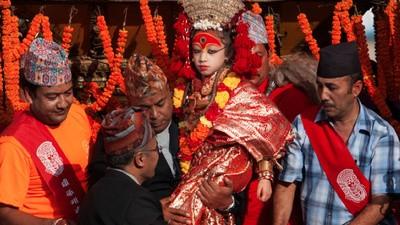 Conoce a las diosas vivientes de Nepal