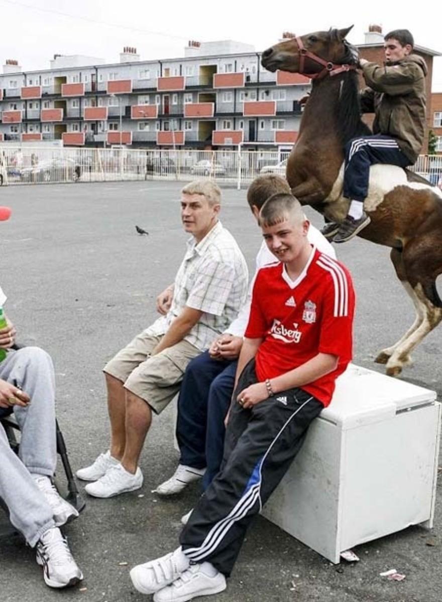 I giovani a cavallo delle periferie irlandesi