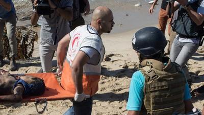 Am Strand von Gaza wurden bei einem Luftangriff vier Kinder getötet