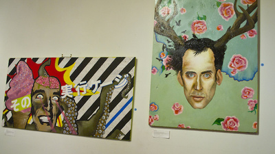 The Nicolas Cage Art Show Finally Killed the Nicolas Cage Meme