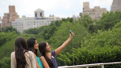 Photos of People Taking Selfies at an Art Museum