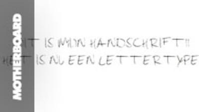 Wowowow! Je kan heel makkelijk van je eigen handschrift een lettertype maken!