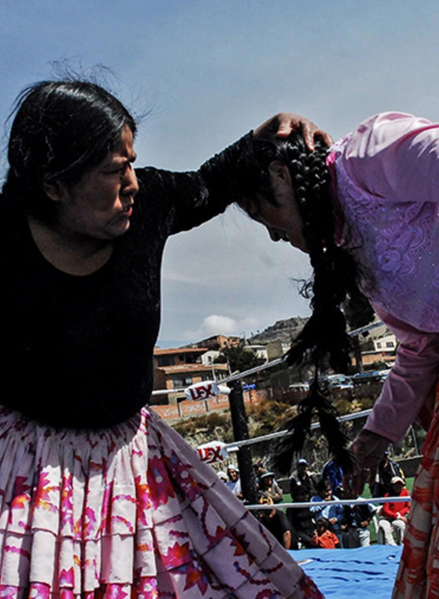 Las cholitas luchadoras al ataque