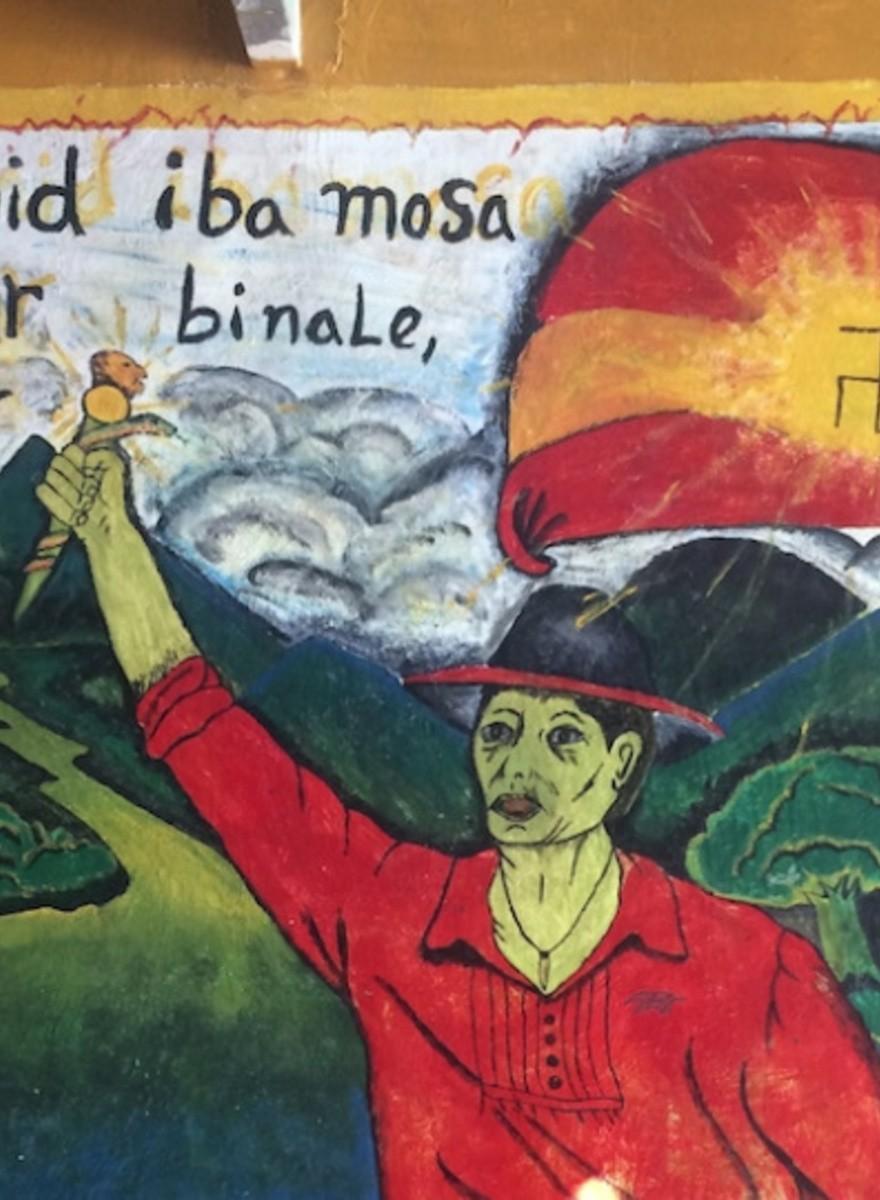 Una tribu indígena comparte bandera con los nazis españoles