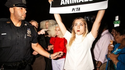 Animal Rights Activists Protested a Fashion Show Starring a 'Breaking Amish' Star