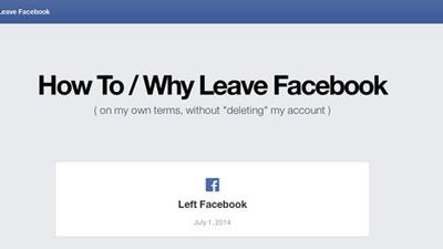 Cum și de ce să pleci de pe Facebook