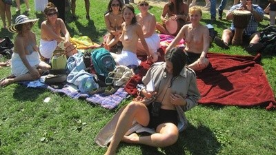 I Went to a Raëlian Cult Protest for Titties