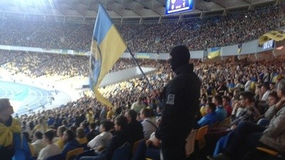 The Far-Right Paramilitary Group Hanging Out in Kiev's Soccer Stadium