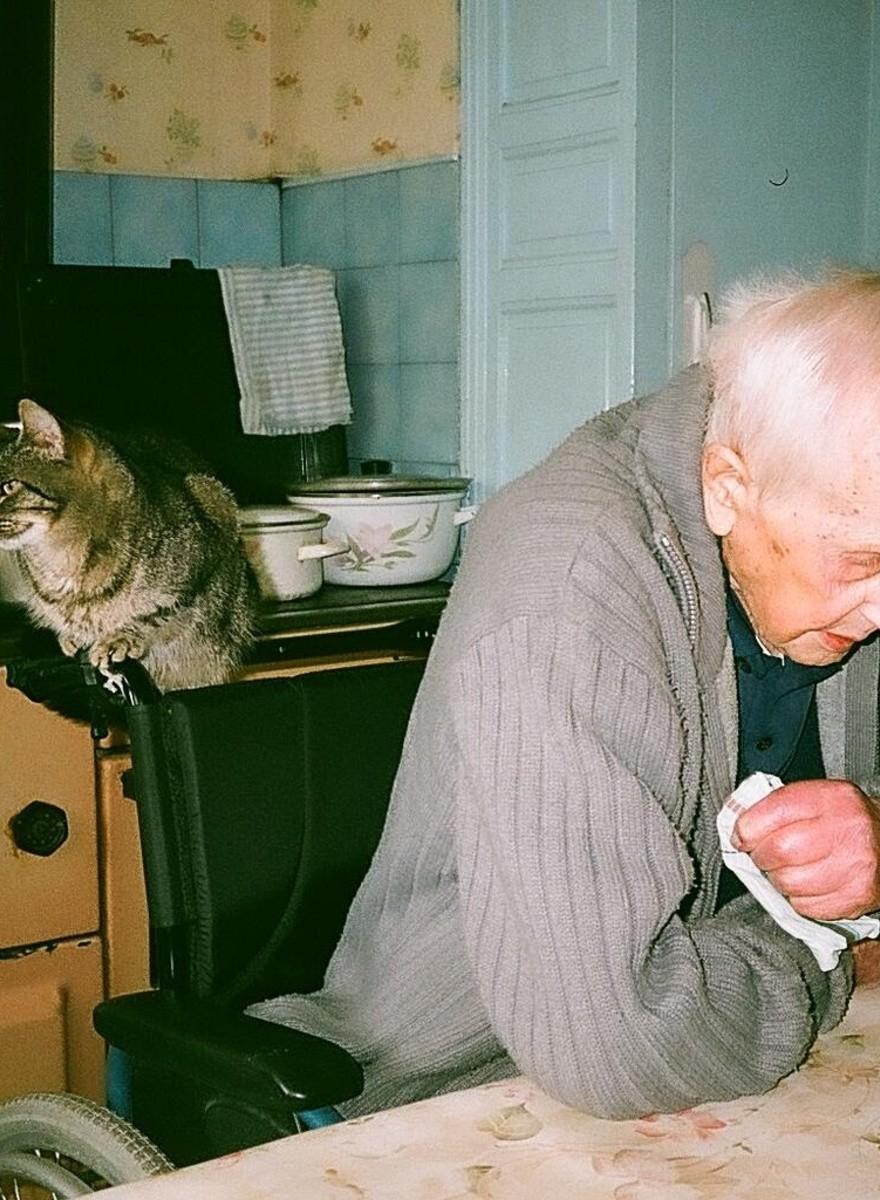 Fotos de mi abuelo muriéndose