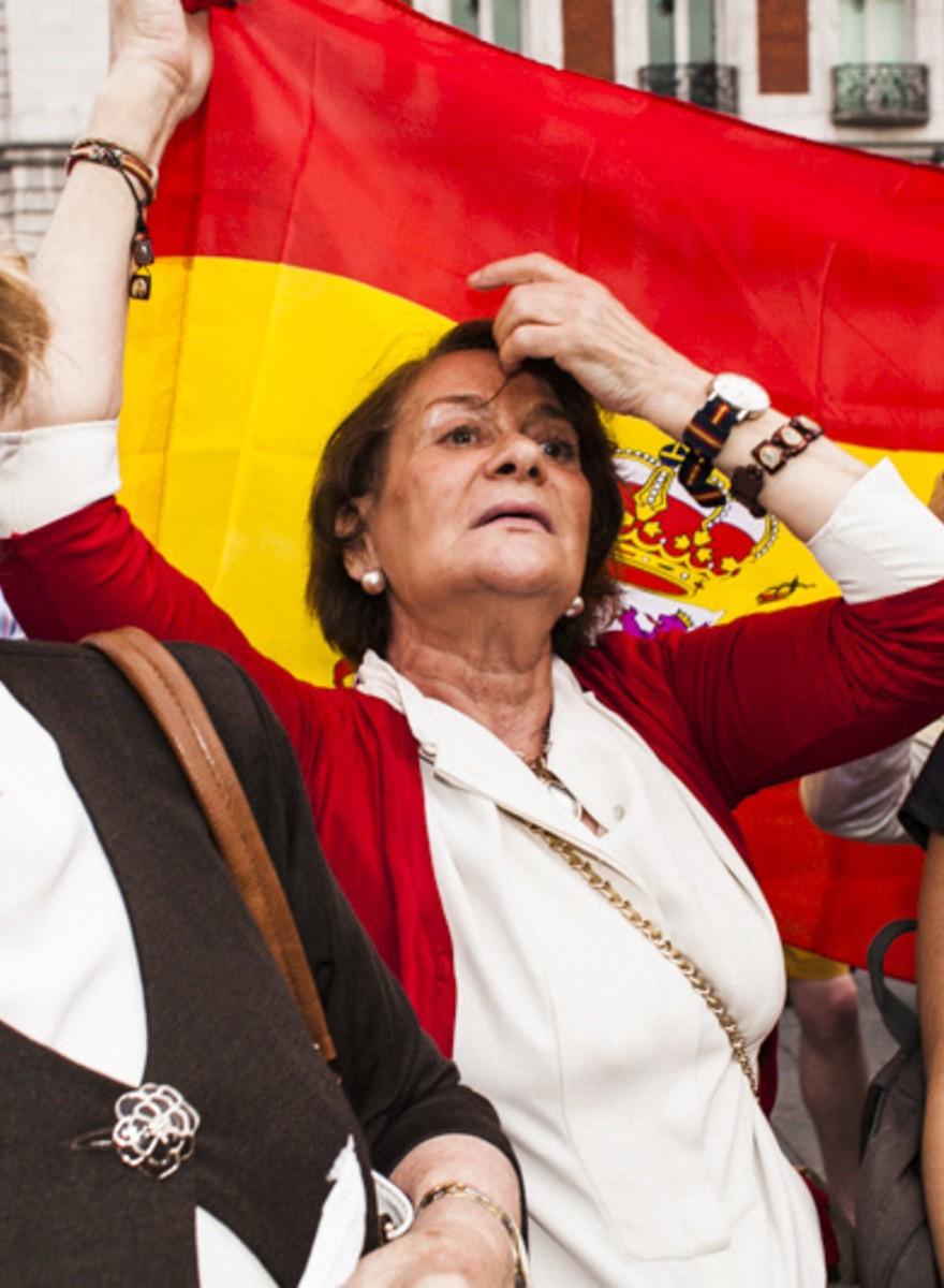 Así fue la manifestación en defensa de la monarquía en Madrid