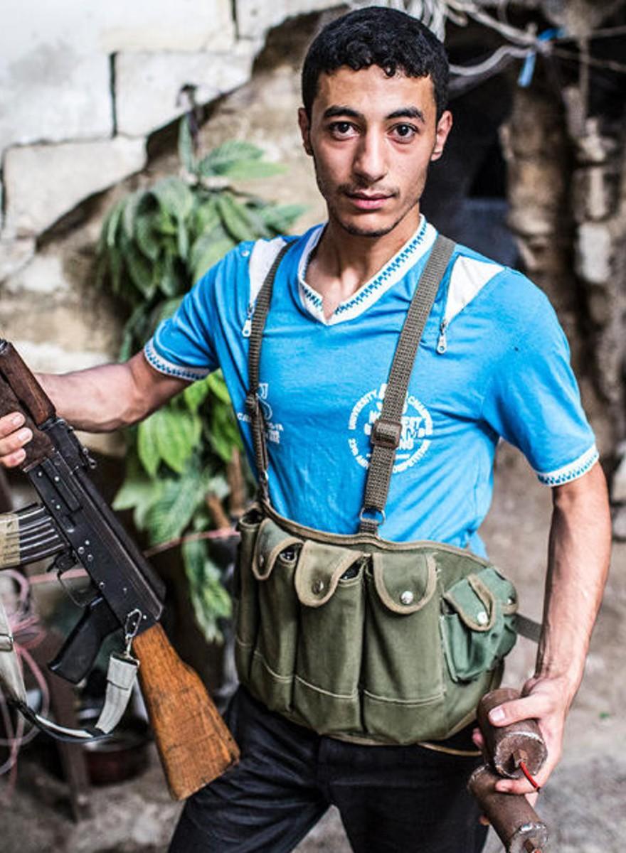 Foto dei combattenti del Fronte Islamico di Aleppo