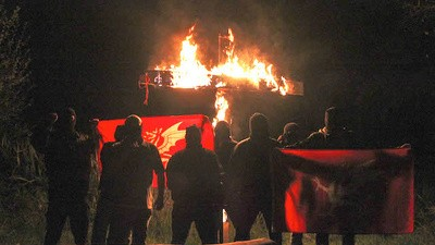 White British Nationalists Are Burning Crosses in the Woods Outside London