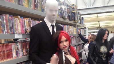 A Seven-Foot Teenage Slender Man Was Kicked Out of Sydney Comic Con