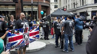 Hunting for British American Football Fans at London's NFL Street Party