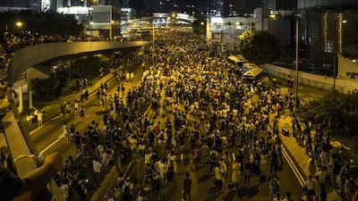 En las protestas de Occupy Central en Hong Kong