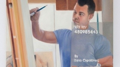 A Bunch of Underpaid Chinese Workers Were Commissioned to Paint Stock Images of 'Artists'