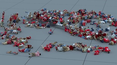 CGI Test Footage Pits a Crowd of Tiny People Against a Massive Swinging Arm