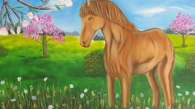 Lexa Marau peint des tableaux en écoutant les conseils de gens morts
