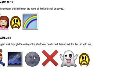 Dieser Typ will 25.000 Dollar, um die Bibel in Emojis zu übersetzen