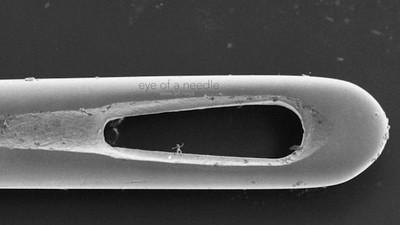 Elegantes nano esculturas que caben en el ojo de una aguja