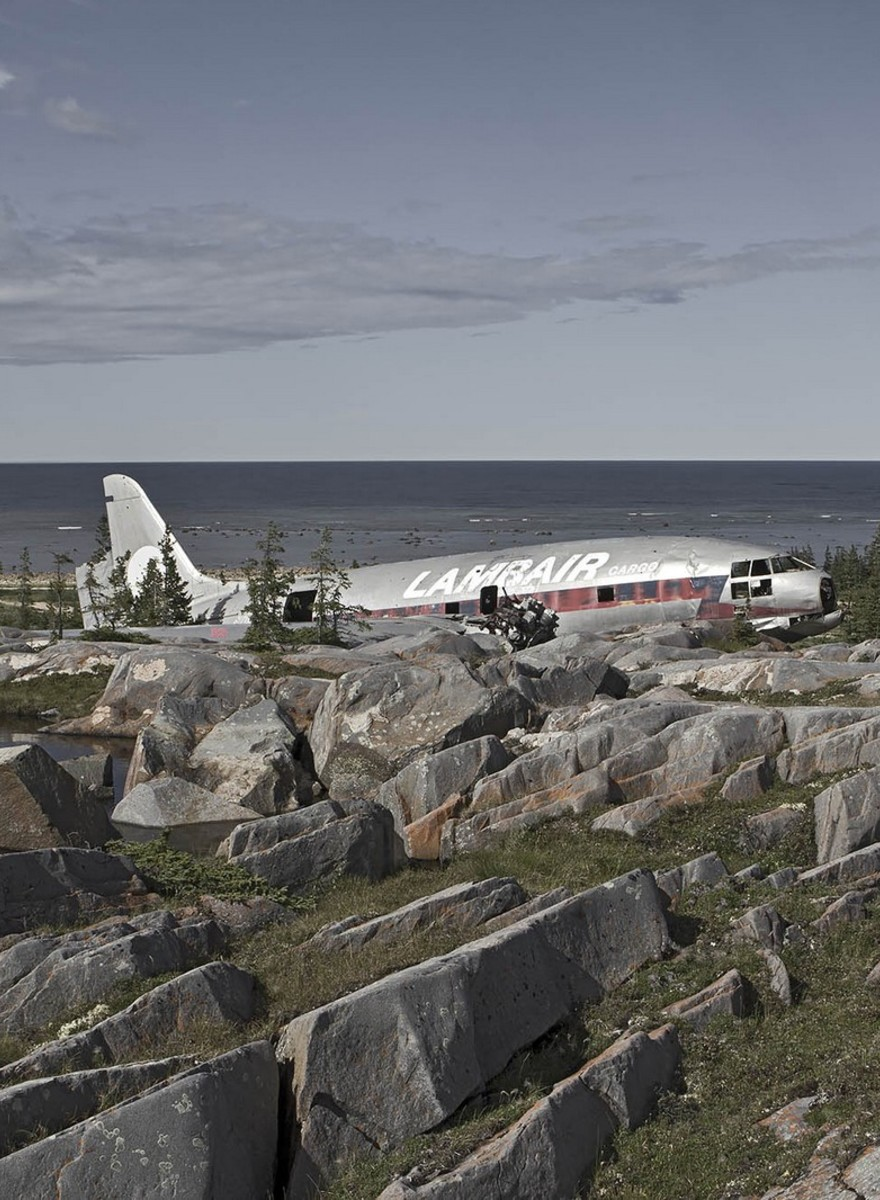 Dietmar Eckell fotografía restos de aviones