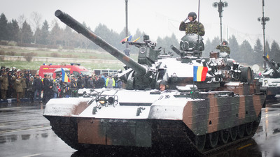 Romania Paraded Its Old-Fashioned War Machines Through a Terrible Blizzard on Monday
