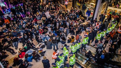 We Saw Protesters Storm West London Westfield Last Night