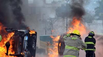 La Policía Federal ataca a manifestantes antes del concierto en solidaridad con Ayotzinapa