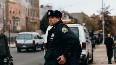 Foto's van de nasleep van de schietpartij in Brooklyn