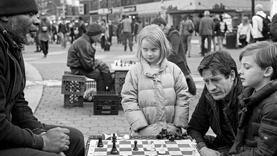 A Black and White Game: The Chess Players of Union Square