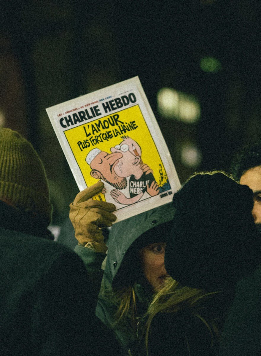Photos from Last Night's 'Charlie Hebdo' Solidarity Protest in Union Square