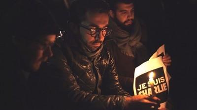 Meeting the Londoners at Last Night's Charlie Hebdo Solidarity Vigil