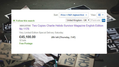 Don't Buy the 'Charlie Hebdo' Survivor Issue on eBay