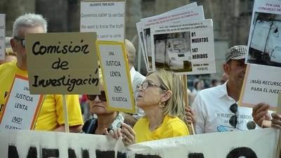 Las víctimas del tren de Santiago quieren destapar las mentiras