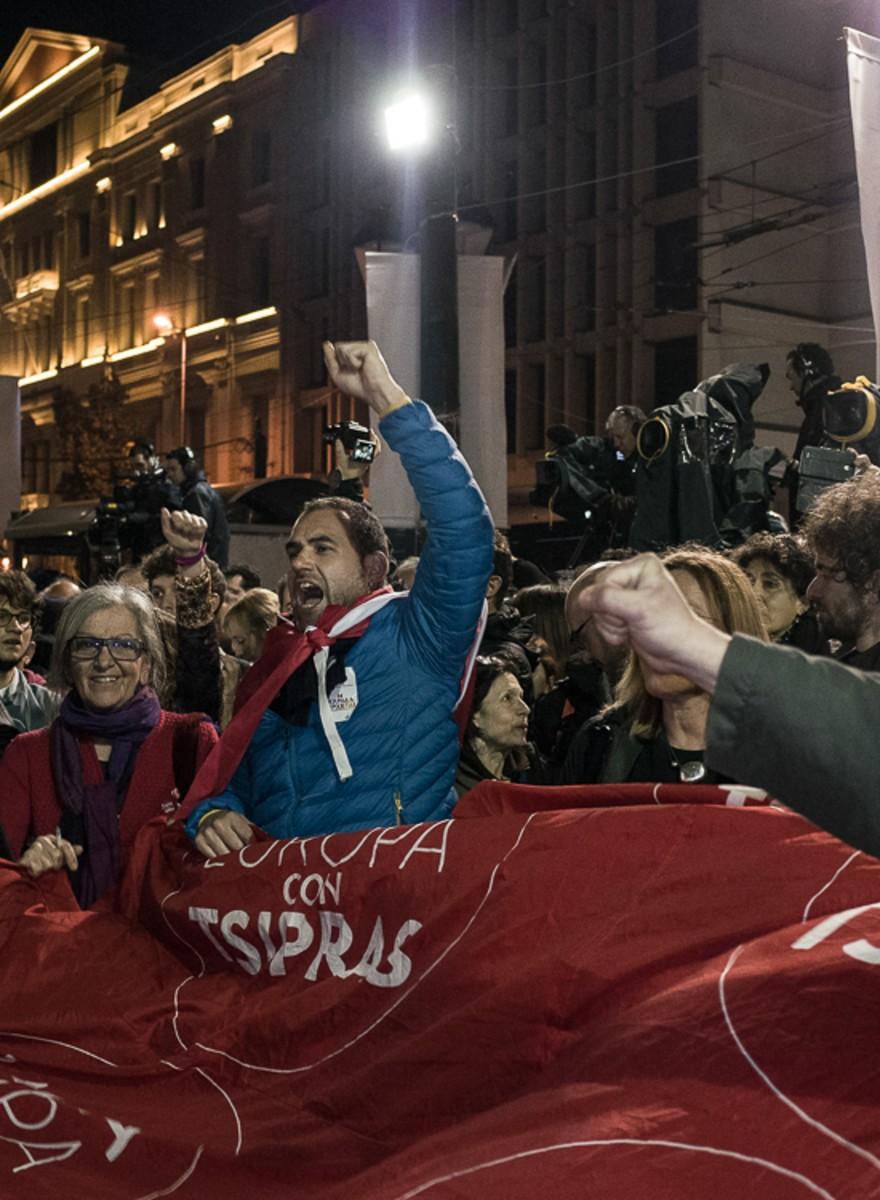 Foto di vincitori e sconfitti ad Atene