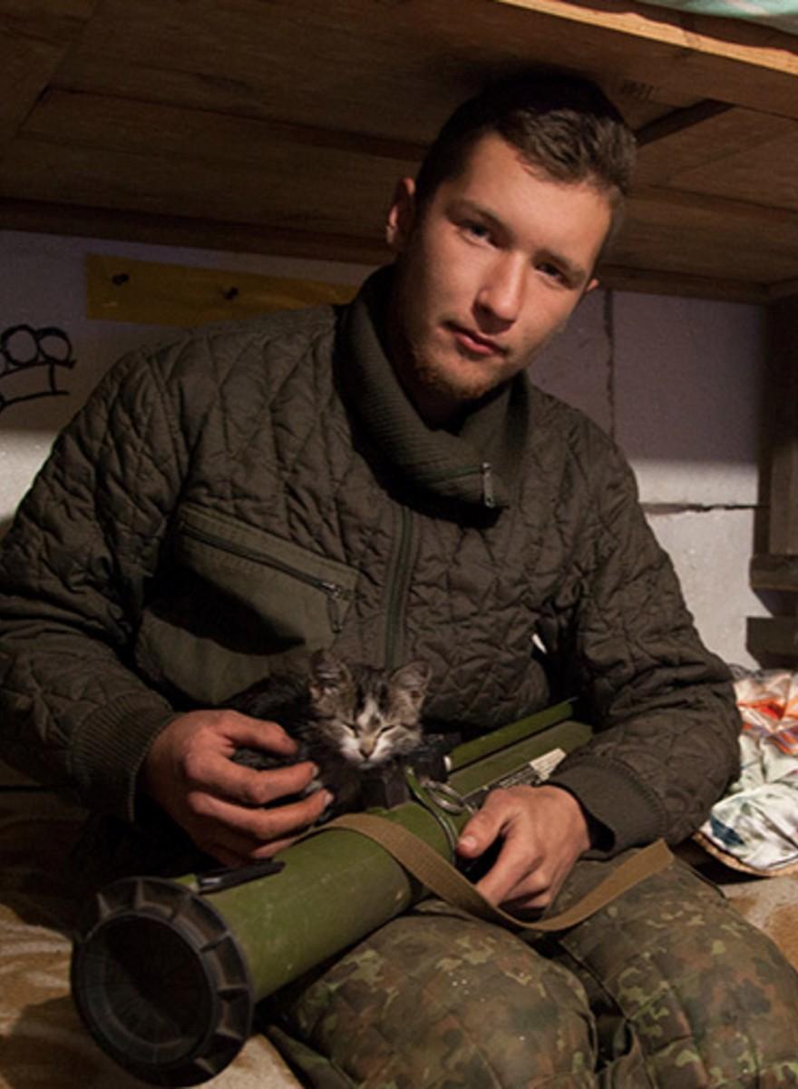 Kattenplaatjes van het Oekraïense front