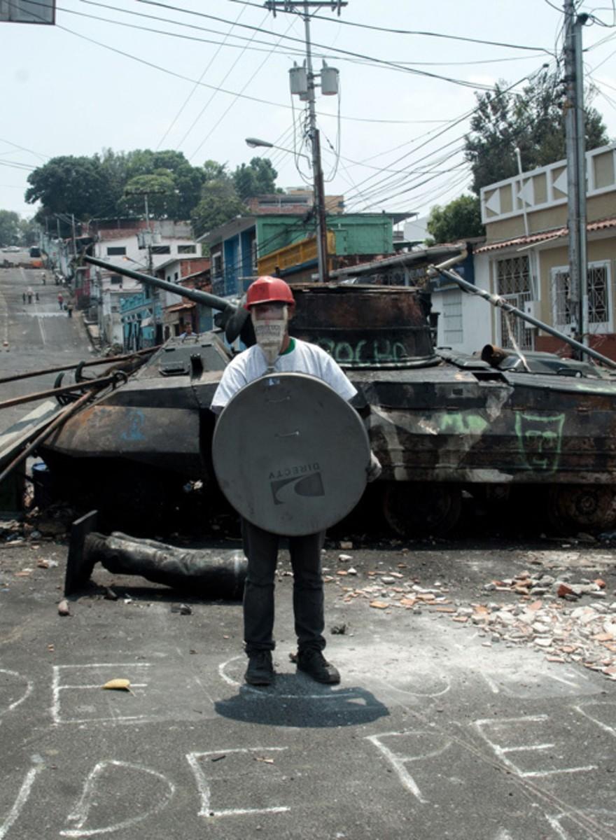 Recorriendo las calles con los guerreros venezolanos