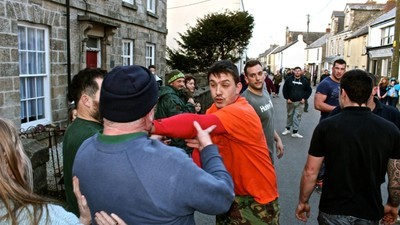 People in Cornwall Celebrate a Local Holiday by Beating the Shit Out of Each Other in the Street