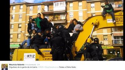 ¿El terremoto de Madrid eran excavadoras desalojando viviendas?