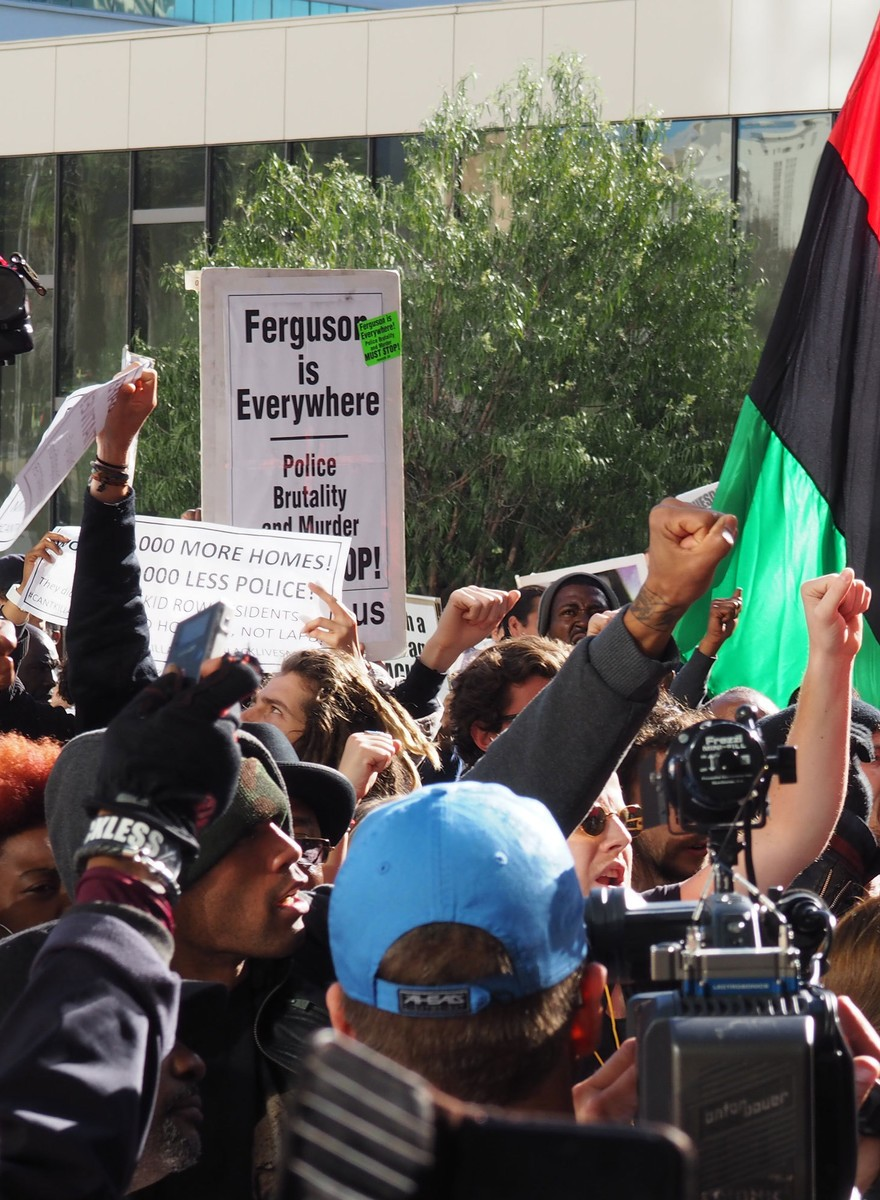 Photos from Today's Protest Against the LAPD in Skid Row