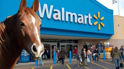 Why Is Walmart Upset with a Guy for Photoshopping This Picture of a Horse in Front of One of Its Stores?
