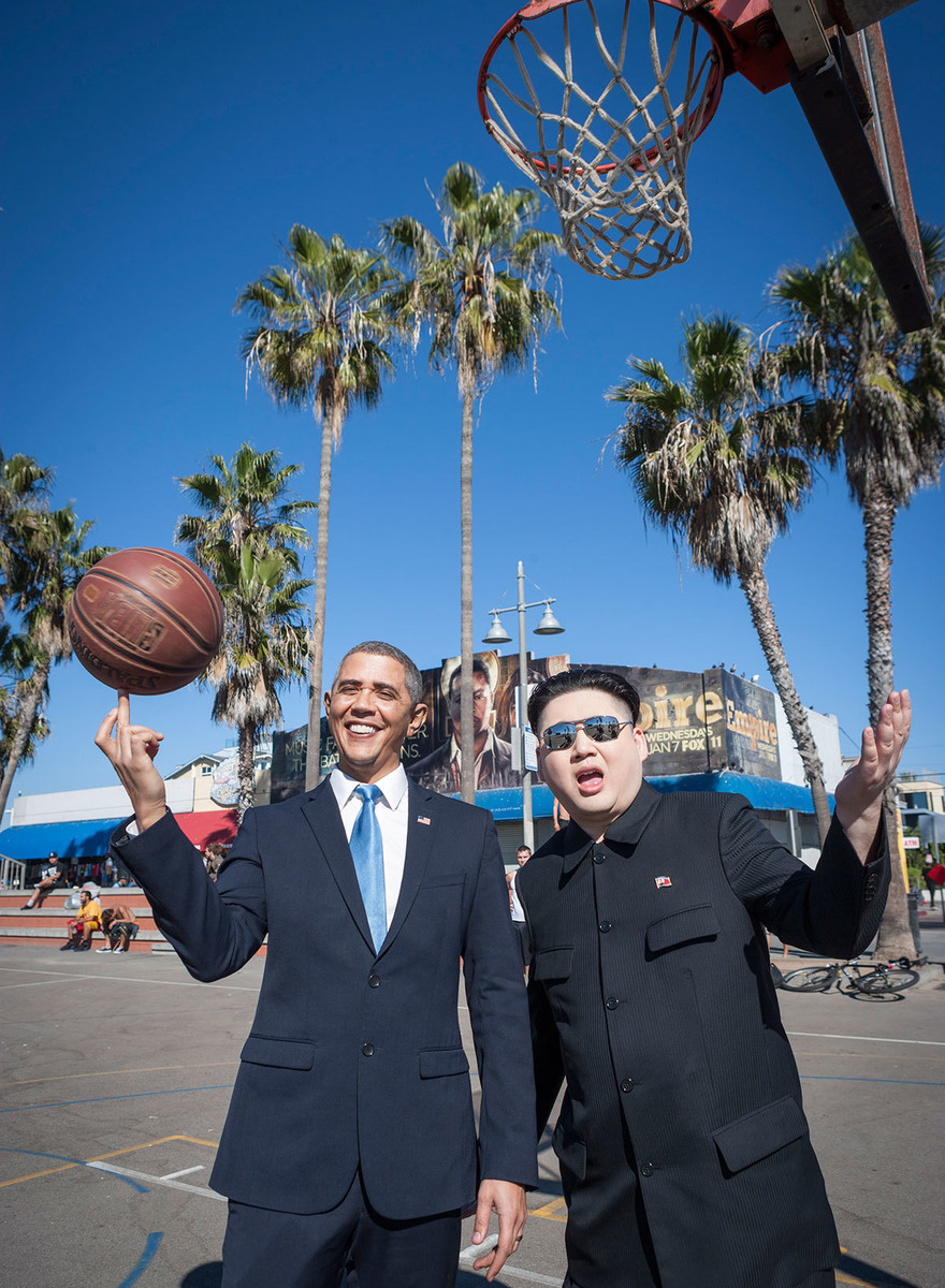Kim Jong-un und Barack Obama in L.A.