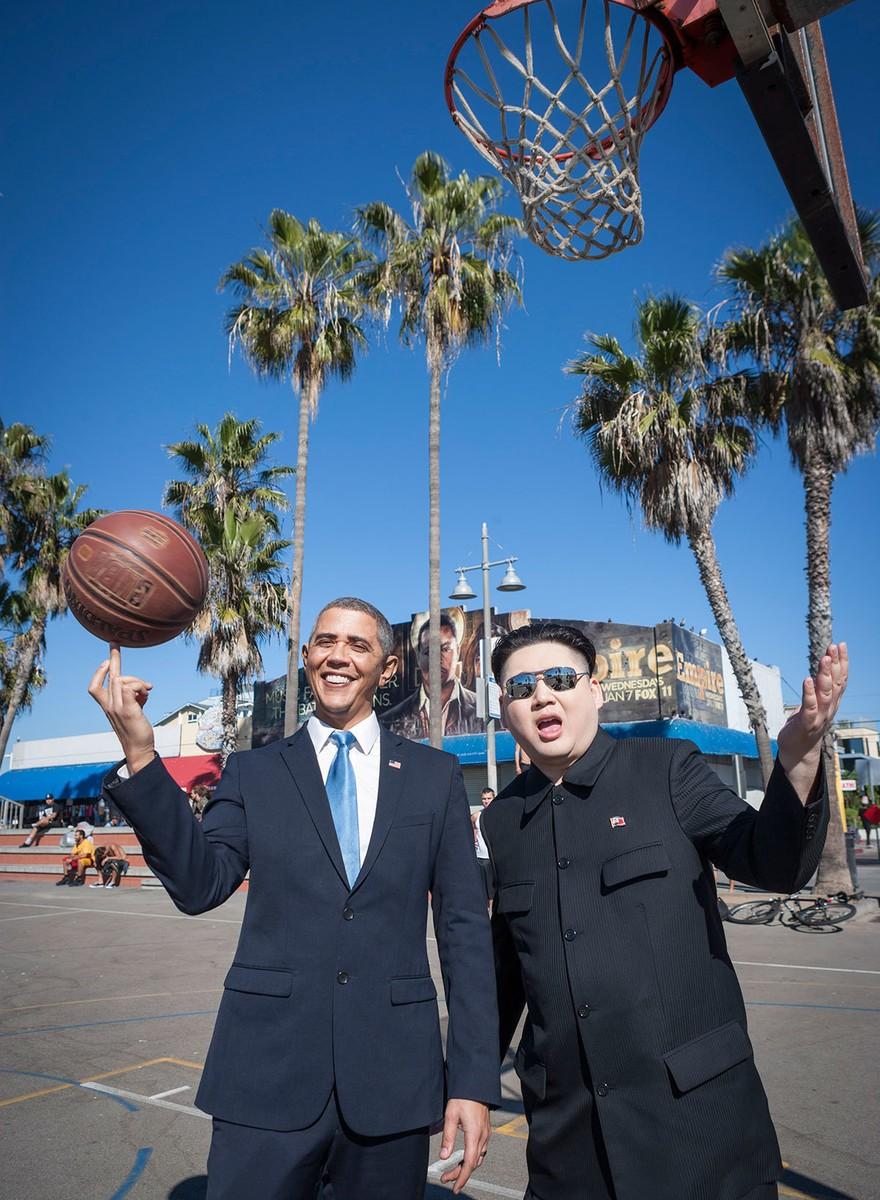 Kim Jong-un und Barack Obama in L.A.